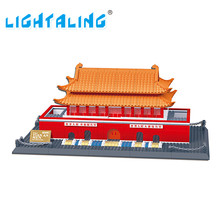 Wange Great architectures 11 models Tiananmen Building Block Sets Educational DIY Bricks Toys Lightaling