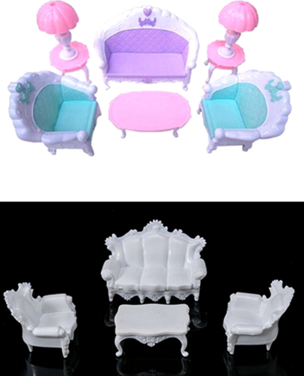 Families Furniture Toys Dollhouse Sofa Table Chair Lamp Miniature Furniture Sets Children Gift Toys Available In A Variety