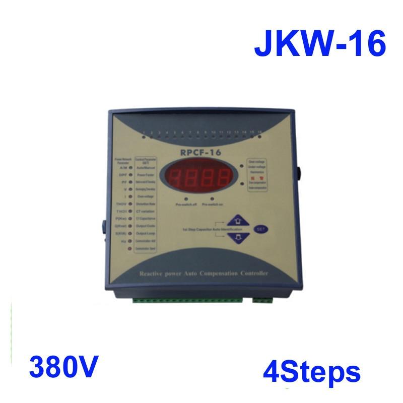 JKW 16 power factor 380v 4steps 50 60Hz JKW16 RPCF Power regulator factor Compensator Digital Power