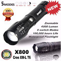High Quality   5000LM G700 Tactical LED Flashlight X800 Zoom Super Bright Military Light Lamp