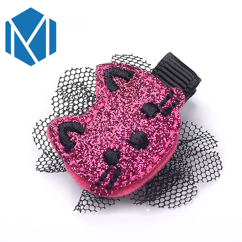 2019 New 1pc Girls Cute Kitty Cat Hairpins Baby Barrettes Children Hair Accessories Mesh Ornaments Kids Hair Clip Child Headwear
