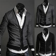 Zogaa 2019 Dark Gray/Black Sweater Men Simple Cotton Fake Pocket Zipper Man Imported Wool Cardigan Coat Plug Size 4XL