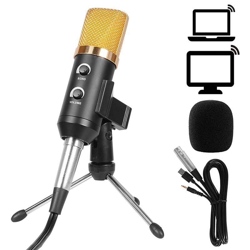 vente usb 3 5mm bm 700 studio microphone pour ordinateur de bureau professionnel microphones avec trepied pas cher prix