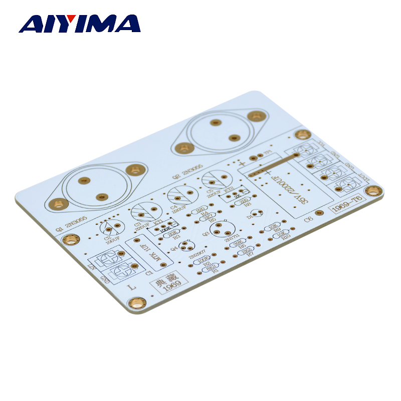 AIYIMA 1PCS 1969 Power Amplifier PCB Board Bare Board For Diy 1969 Amp