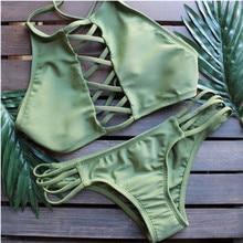 Женщины Бикини Купальники Купальник Bikinis Beachwear Купальники Листья Печати Сексуальные Купальники