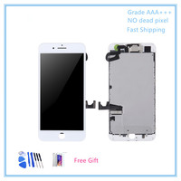 5PCS High Quality Full Set Screen For IPhone 7 Plus LCD Display Touch Screen Front Camera