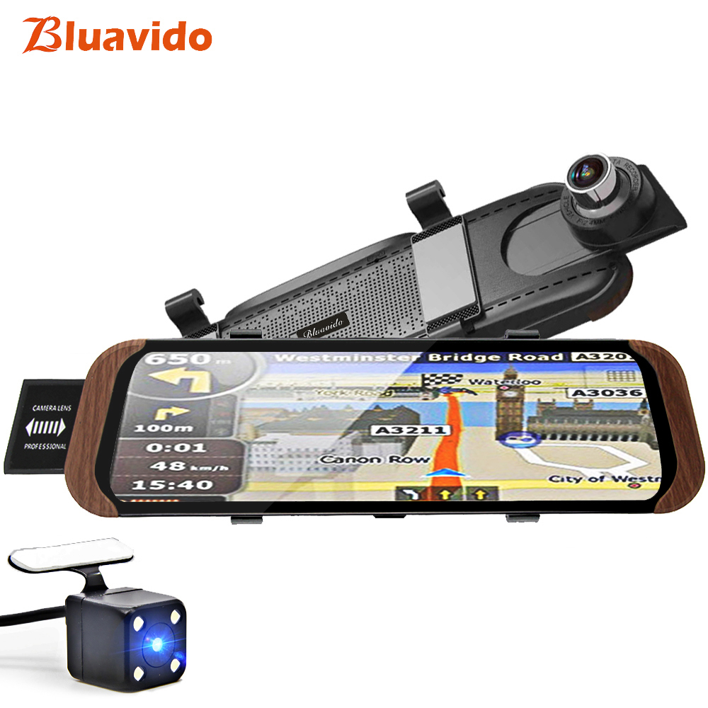 """Bluavido 10"""" 4G Android GPS Navigation ADAS Car Rearview mirror Video Recorder Full HD 1080P Car Camera DVR WiFi BT 4.0 Dash cam-in Car Mirror Video from Automobiles & Motorcycles    1"""