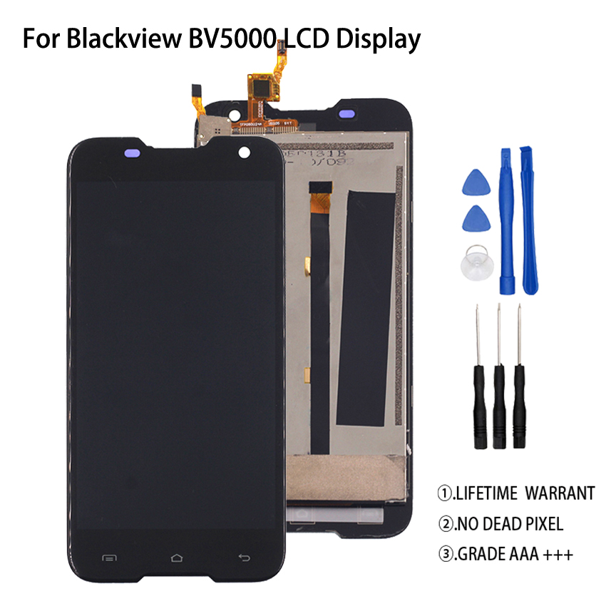 Original For Blackview BV5000 LCD Display Touch Screen Digitizer Assembly For Blackview BV5000 Display Screen LCD Phone Parts in Mobile Phone LCD Screens from Cellphones Telecommunications