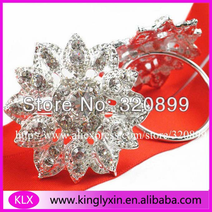 (200pieces lot) wholesale! metal rhinestone napkin rings for table  decoration (200pieces just one style )-in Buckles   Hooks from Home    Garden on ... 0e12d468e2ad