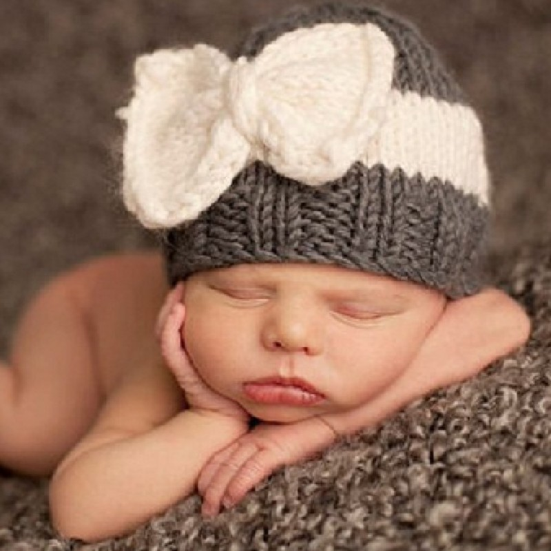 Adofeeno Children Beanie Hats Newborn Crochet Baby Hat for Children Photography Props Knitting Infant Hats Bow Cute Outfits newborn crochet baby costume photography props knitting baby hat bow infant baby photo props newborn baby girls cute outfits