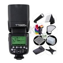 Беспроводная вспышка GODOX TT685C E TTL II, 2,4G HSS 1/8000s, TTL, светильник для Canon EOS 650D 600D 550D 500D 5D Mark II III