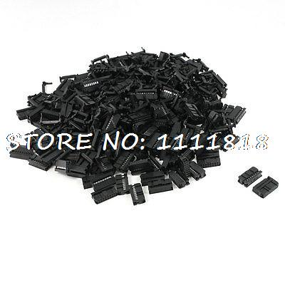 200 Pcs FC-16P 16 Pin Male IDC Socket Plug Ribbon Cable Connector Black 200 pcs fc 14p 14 pins male idc socket plug ribbon cable connector black free shipping