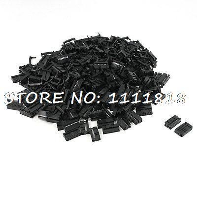200 Pcs FC-16P 16 Pin Male IDC Socket Plug Ribbon Cable Connector Black [vk] dh32b 37s idc plug 37pos connectors