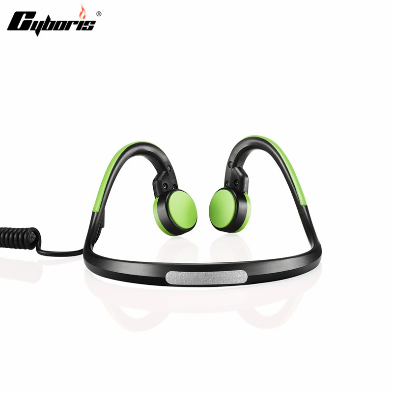 CYBORIS Wireless Headset Bluetooth Sports Bone Conduction 3.5mm Waterproof Headphones Earphone With Mic for ios Android 2016 nfc wireless headset bluetooth sports bone conduction headphones earphone with mic for ios android smartphone table pc