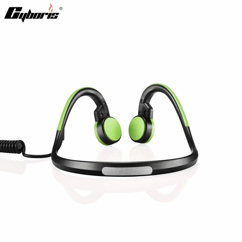 CYBORIS Wireless Headset Bluetooth Sports Bone Conduction 3.5mm Waterproof Headphones Earphone With Mic for ios Android