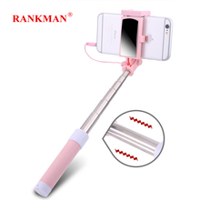 Get more info on the Rankman Selfie Stick Extendable Holder with Button 3.5mm Plug Wired Handheld Monopod with Mirror for iPhone 6 5 Android phones