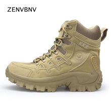 Zenvbnv 2018 Hiking Shoes Mountain Sneakers For Camping Climbing Imported Suede Outdoor Sports Shoes Tactical Men Combat Boots