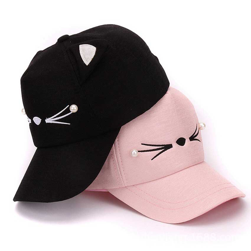 black cat ear baseball cap summer hats for women new designed female high quality ladies ebay