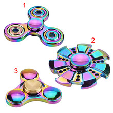 Fashion Gyro Finger Spinner Fidget Toy Alloy Fidget Hand Spinners For Autism/ADHD Anxiety Stress Relief Focus Gifts @Z418