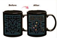 שחור כוס קסם ספל שינוי צבע זיקית Caneca כוסות קפה 330 ml משחק קרמיקה כוס אספרסו כוסות תה קפה tasse מתנה
