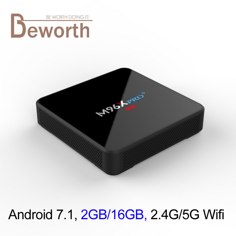 цены Android 7.1 TV Box 2GB RAM 16GB ROM Amlogic S905W Quad Core 4K Streaming Media Player Wifi BT Smart Mini PC M96X Pro Plus KODI