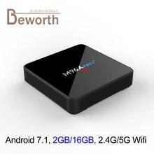 Android 7.1 TV Box 2GB RAM 16GB ROM Amlogic S905W Quad Core 4K Streaming Media Player Wifi BT Smart Mini PC M96X Pro Plus KODI