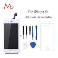 No Dead Pixel Screen For Apple IPhone 5s White Black Replacement LCD Display Digitizer Touch Screen