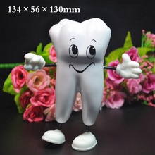 1 Pc Tooth-figure Squeeze Toy Soft PU Foam Tooth Stress Reliever Dentistry Promotional Item Dentist Gift