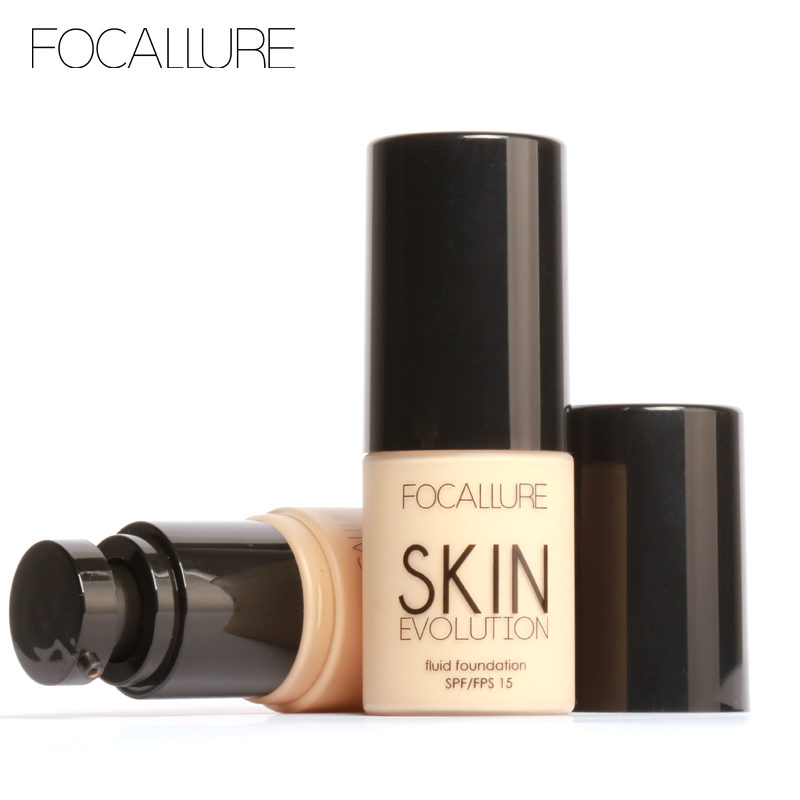 FOCALLURE Face Liquid Foundation Makeup Base Foundation BB Cream Concealer Whitening Moisturizer Oil-control Maquiagem SPF15 new pnf brand makeup moisturizer whitening air cushion bb cc cream primer face concealer brightener foundation base bb cream