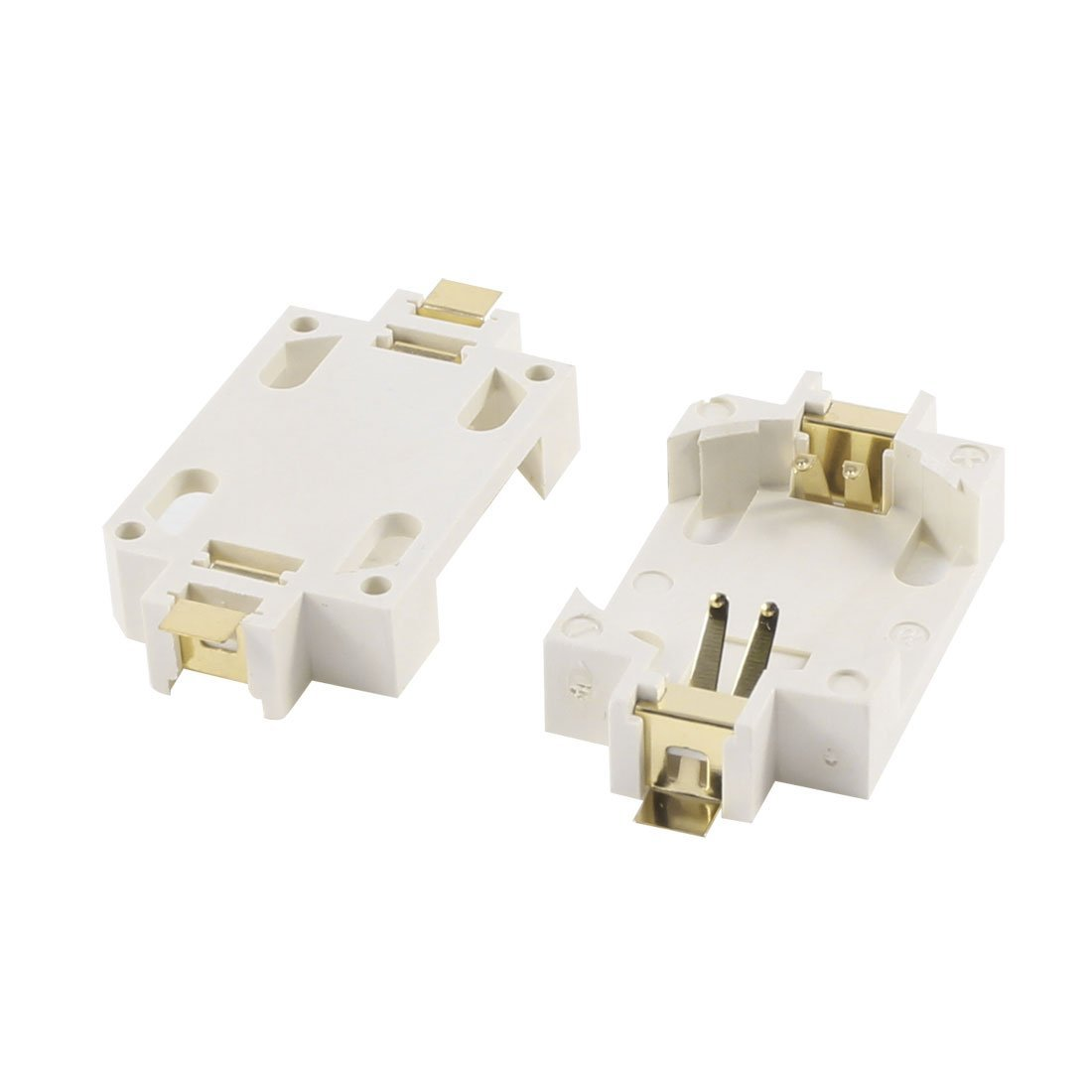 2PCS Plastic Shell CR2032 <font><b>Button</b></font> <font><b>Cell</b></font> <font><b>Battery</b></font> Socket <font><b>Holder</b></font> Case White