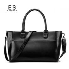 PU Leather Handbags Women 2017 Fashion Elegant Ladies Shoulder Bags High Quality Zipper Casual Saffiano Tote Bag Handbag Black