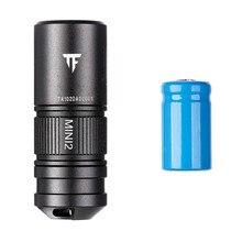 IPX8 방수 미니 EDC 토치 1.52 인치 CA18 3X LED 220 루멘 손전등 10180 리튬 이온 USB 충전식 배터리 야외 도구