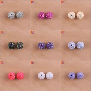 Image 5 - Яркий дизайн от 12 мм до 20 лампочек/блестки на круглых бусинах/ручная работа/Сделай сам/крупные бусины/серьги изготовление ювелирных изделий