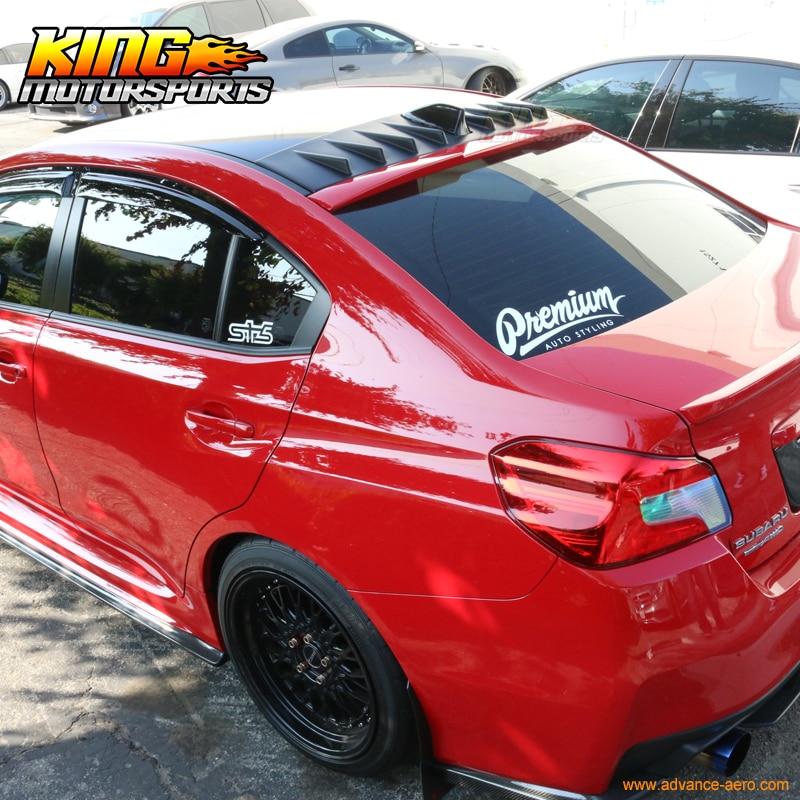 For Subaru 15-18 WRX STI Matte Black Shark Fin Roof Spoiler Vortex Generator