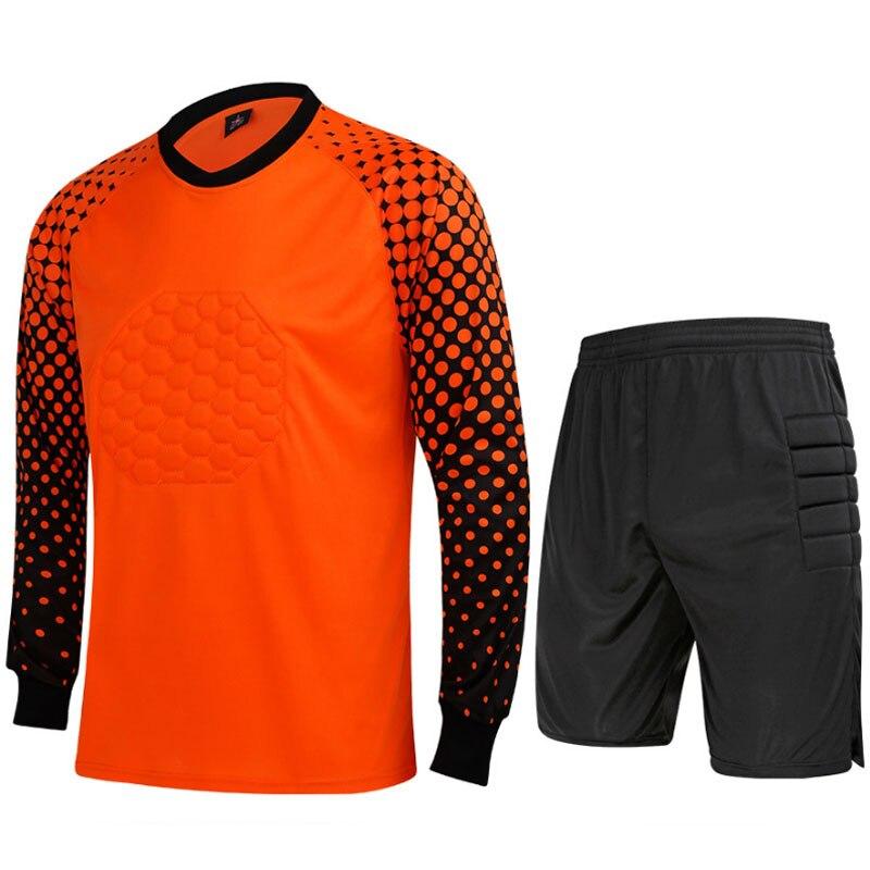2016 dos homens Novos da Marca Conjuntos Uniformes de Goleiro Futebol  Goleiro Camisa de Futebol Terno Treinamento Calças Porteiros Camisa Curto  3XL em ... ae898788cb533