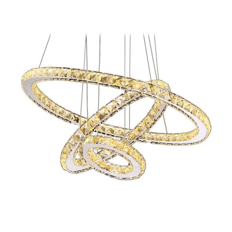 Moderne Ringen Led Kristallen Kroonluchter Opknoping Verlichting Crystal Lustre Hanger Lamparas Plafond Armaturen Armatuur Voor Woonkamer - 5