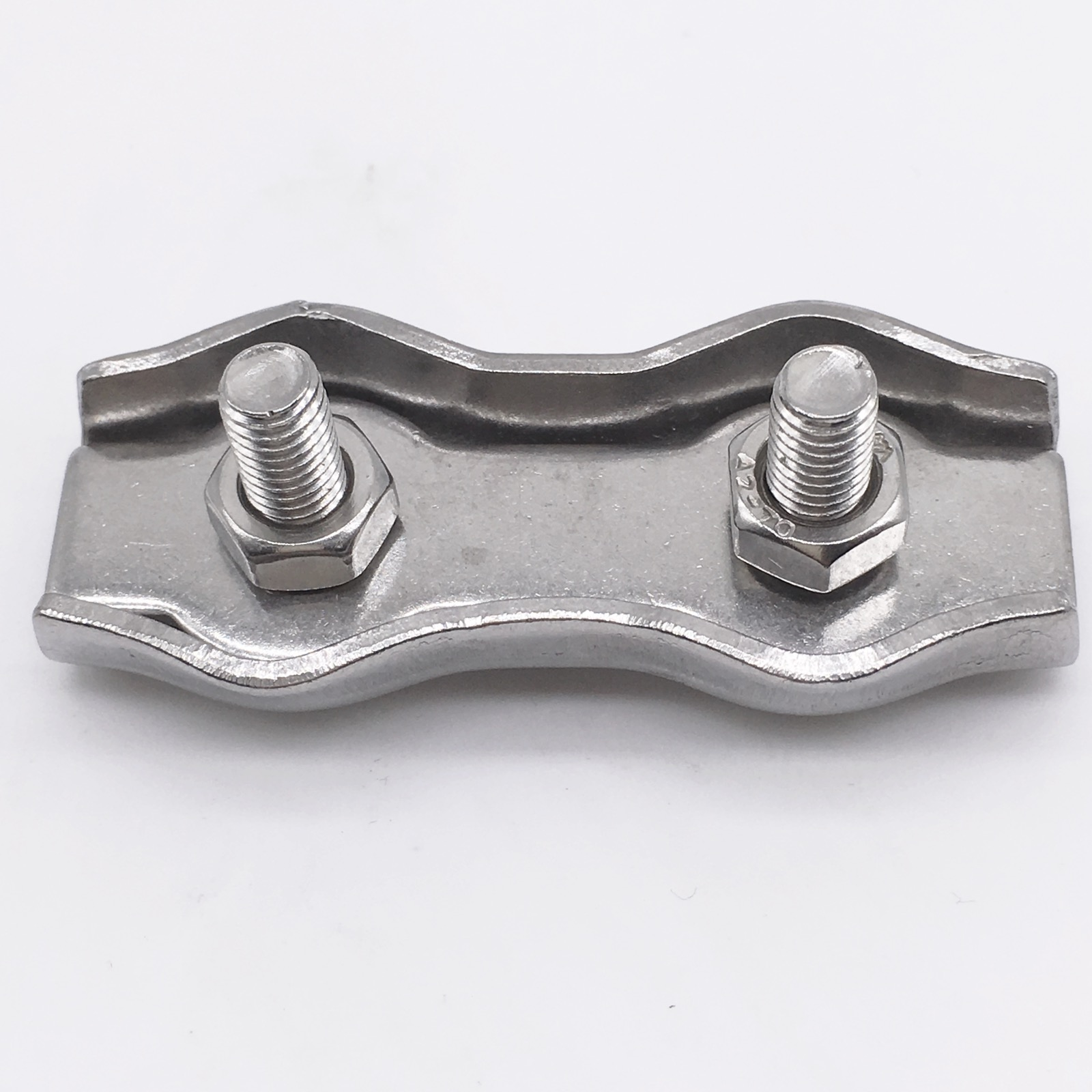୧ʕ ʔ୨M2 Stainless Steel Duplex 2-Post Wire Rope Clip Cable Clamp ...