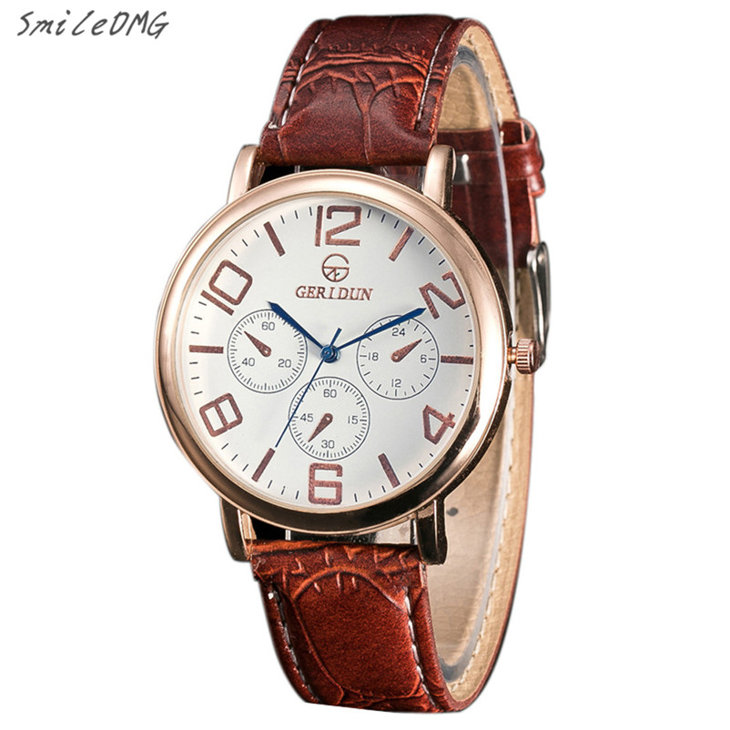 e6aed677f1c Homens relógio Moda Masculina Relógios Pulseira de Couro Esporte Analógico  relógio de Quartzo Relógio de Pulso relogio Alta Qulity Venda Quente Frete  Grátis ...
