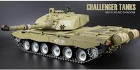 2.4 Ghz RC 1/16 Brytyjski Główna Czołg model Challenger 2 Zbiornik Ostateczny metal wersja airsoft Dymu Dźwięku Metal Gear utworów