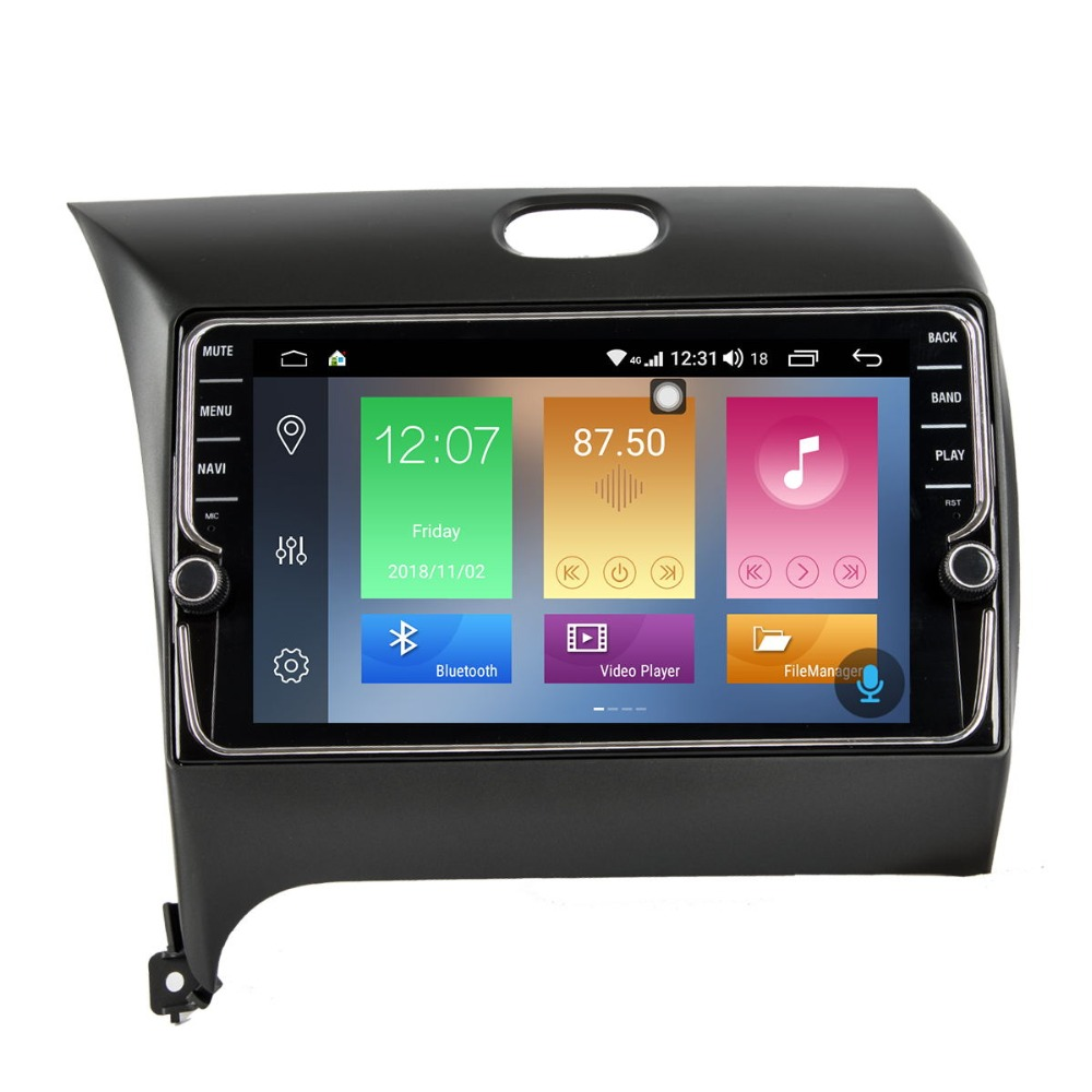 9 inch Android 8.1 Car Radio Video Player For KIA K3 2013-2016 With GPS Navigation Audio Support 4G Network