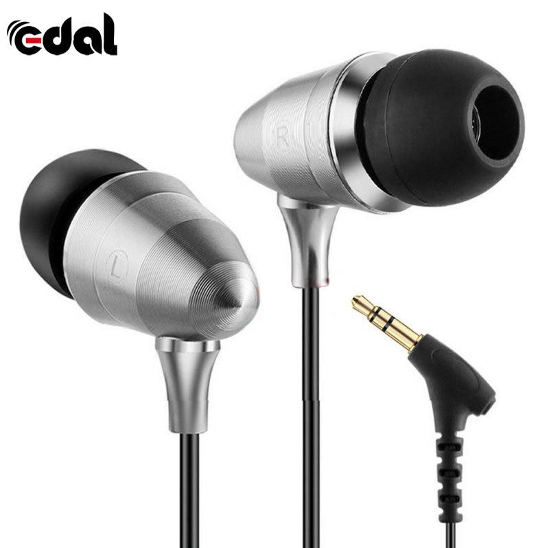 Cool Metal Version Linear HIFI Fever Earplugs In ear Earphones Professional Sound Quality Heavy Bass Earphones