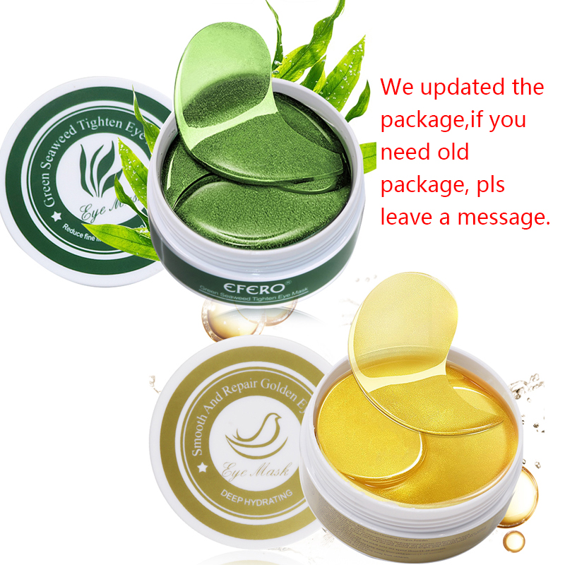 EFERO 120pcs Eye Mask Pads Anti Wrinkle Eye Bags Dark Circles Puffy Whey Protein Collagen Eye Mask Face Mask Green Eyes Patches in Creams from Beauty Health