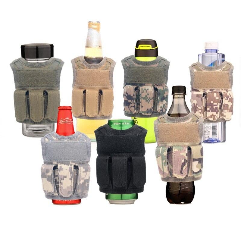Tactical Beer Bottle Adjustable Shoulder Strap Vest Molle Drink Military Personal 7 Cover Mini Miniature Bottle SetTactical Beer Bottle Adjustable Shoulder Strap Vest Molle Drink Military Personal 7 Cover Mini Miniature Bottle Set