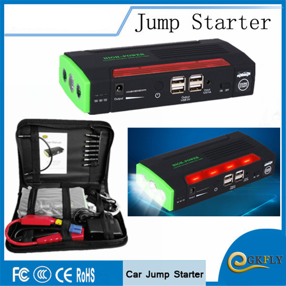 Multi-function 68800mAh Car Jump Starter 600A Portable Starting Device Booster Power Bank 12V Car Charger For Car Battery Buster multifunction jump starter 89800mah 12v 4usb 600a portable car battery booster charger booster power bank starting device