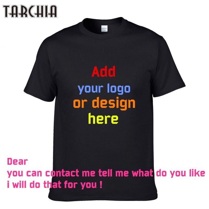 TARCHIA 2018 In Cá Nhân T-Shirts thiết kế logo mens t shirt Quảng Cáo cậu bé mới áo thun ngắn tay áo tees tops bông