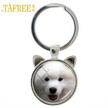 TAFREE Dog keychain Samoyed Yavrusu Resimleri Scottish Terrier Mini Schnauzer Shepherd Doberman puppy key chain jewelry CN772