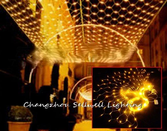 2018 offre spéciale limitée arbre de noël cadeau de noël génial! noël lumière hôtel décoration 1*4 m Net lampe H294