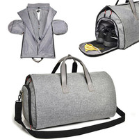 New Travel Garment Bag with Shoulder Strap Duffel Bag Carry on Hanging Suitcase Clothing Business Bag Multiple Pockets
