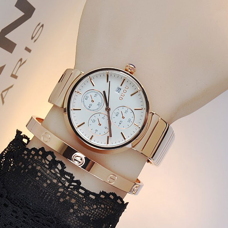 Top Brand Fashion Simple Women Watches Rose Gold Bracelet Quartz Wristwatches Ladies Waterproof Dress Clock Montre Femme hot sale power amp board 68w 68w lm3886 amplifier board with circuit protection