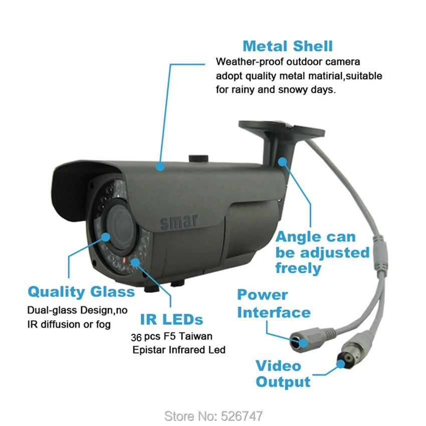 720P 960P 1080P AHD Camera 60-4M-4